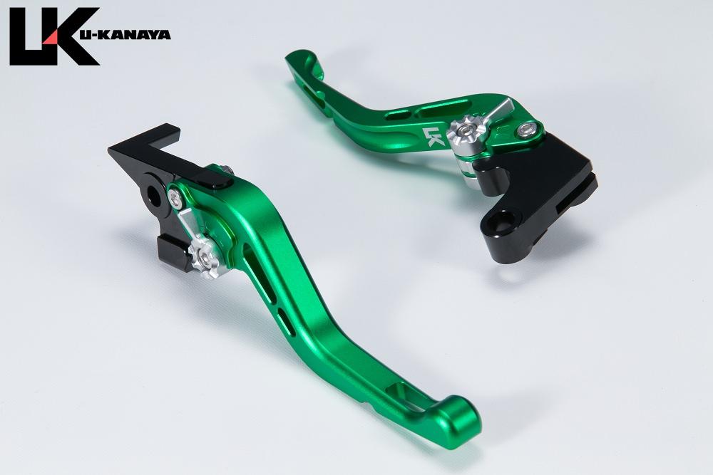 GPタイプ ショートアルミビレットレバーセット マットグリーン U-KANAYA Ninja H2/R