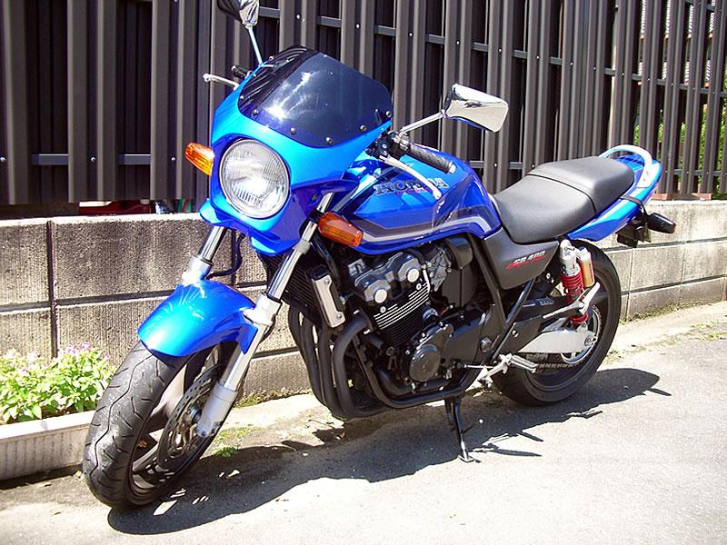 CB400SF 汎用ビキニカウル DS-01 typeエアロ スモークスクリーン(キャンディーフェニックスブルー単色塗装)PB-284C WORLD WALK(ワールドウォーク)