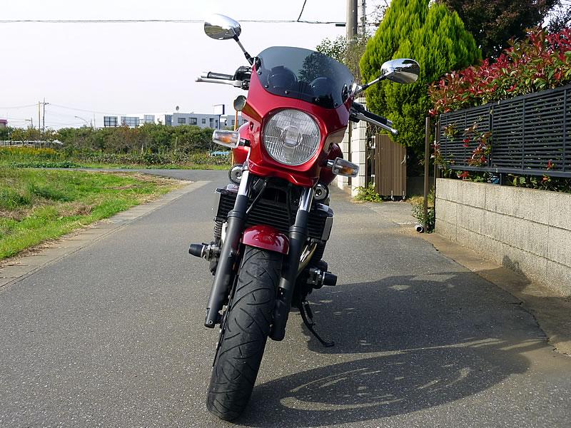 SR400 汎用ビキニカウル DS-01 タイプエアロ スモークスクリーン(ディープレッドメタリックk)コード:0918 WORLD WALK(ワールドウォーク)