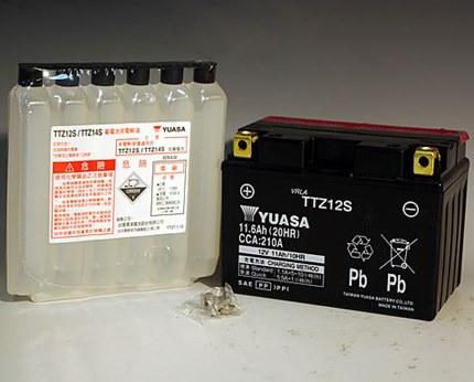 PS250(04年~) TTZ12S(YTZ12S互換)メンテナンスフリーバッテリー 液入り充電済 台湾ユアサ
