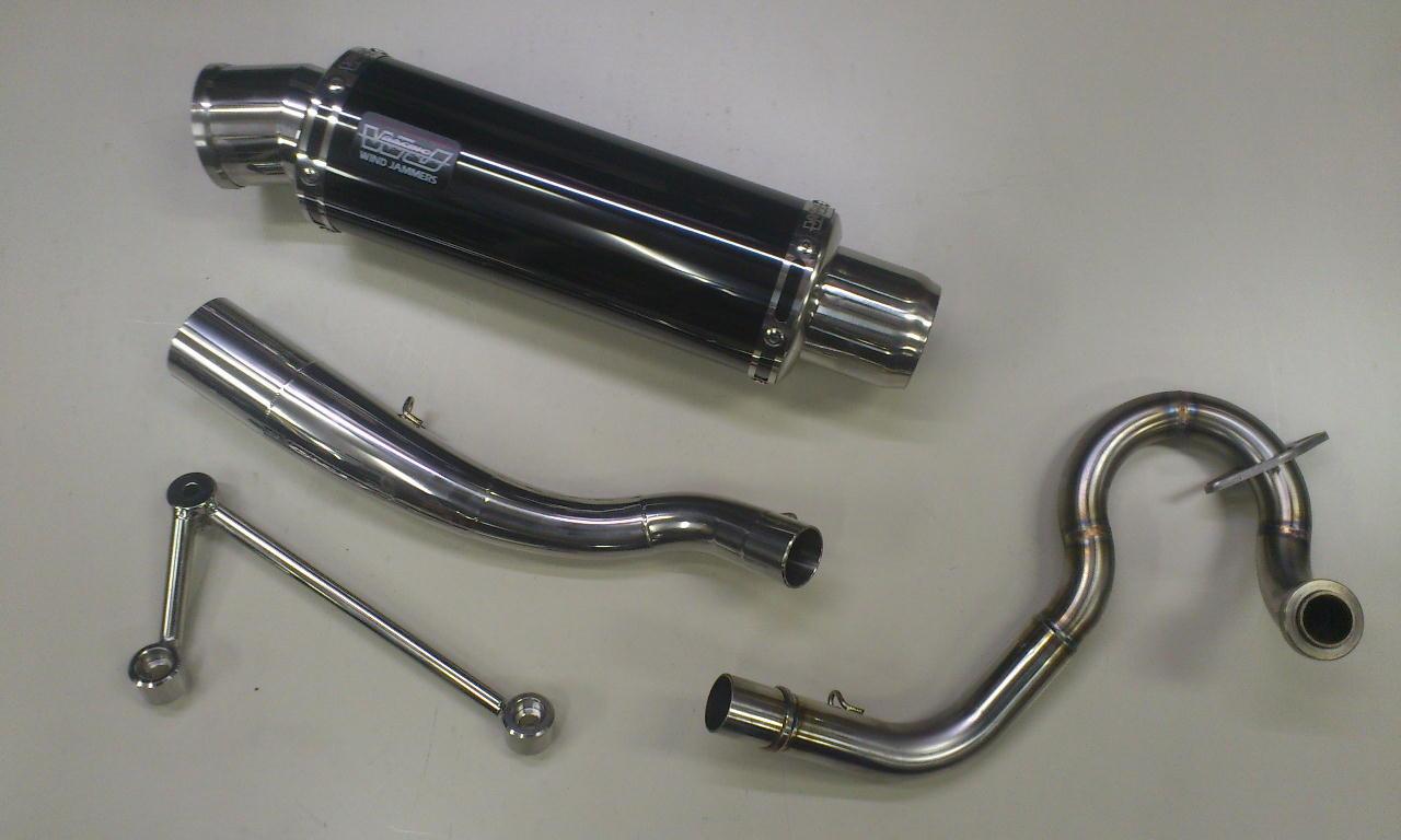 PCX150 eSPエンジン車(KF18) コイル・コーン・パイプ WJ-S ブラックステンレス 政府認証 ウインドジャマーズ