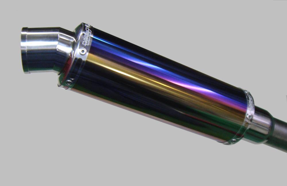 ビーウィズ(BWS125)A/Fセンサー付 スネーク・コーン・パイプ OV180 WJ-R チタンブルー ウインドジャマーズ