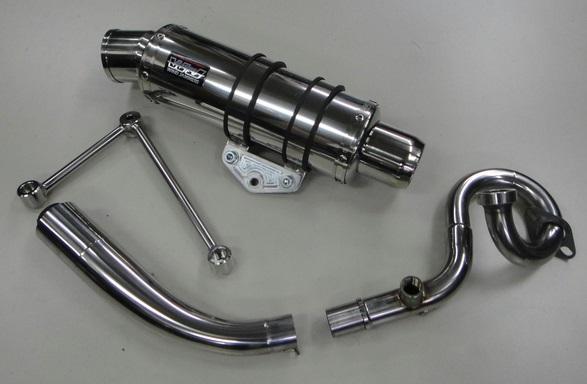 BWS125 A/Fセンサー付(台湾5期以降) コイル・コーン・パイプ WJ-R チタンソリッド ウインドジャマーズ