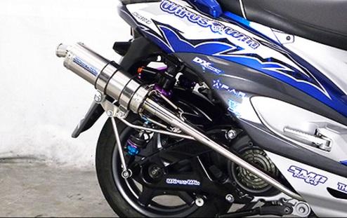 シグナスX(CYGNUS-X)2型SE36・SE37・SE461~SE464 FP4 STレーシングマフラー(O2センサーモデル用) ウイルズウィン(WirusWin)