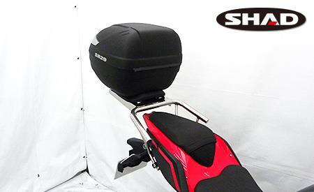 SHAD製リアボックス付きタンデムバー ウイルズウィン(WirusWin) Ninja400(ニンジャ400)2BL-EX400G 18年
