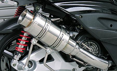 アトミックショートマフラー バズーカータイプ ステンレス ウイルズウィン(WirusWin) シグナスX(2型)台湾仕様 O2センサー装着車