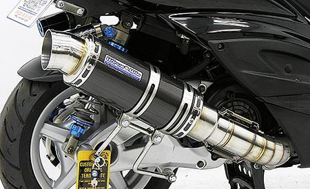 プレミアムマフラー ブラックカーボン仕様 ウイルズウィン(WirusWin) シグナスX(2型)台湾仕様 O2センサー装着車