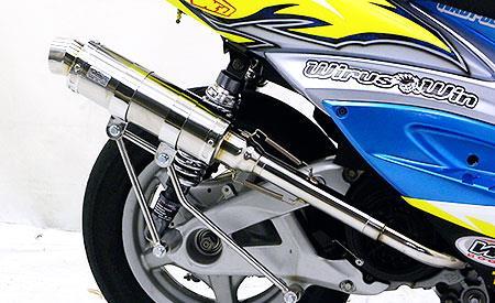 レーシングマフラーG ウイルズウィン(WirusWin) シグナスX(2型)台湾仕様 O2センサー装着車