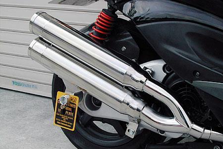 スタイリッシュツインマフラー バズーカータイプ ウイルズウィン(WirusWin) シグナスX(2型)台湾仕様 O2センサー装着車