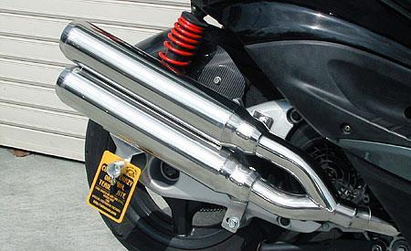 スタイリッシュツインマフラー ジェットタイプ ウイルズウィン(WirusWin) シグナスX(2型)台湾仕様 O2センサー装着車