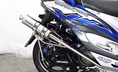 FP4 STレーシングマフラー ウイルズウィン(WirusWin) シグナスX(3型)台湾 SE465-1MS(O2センサー装着車)