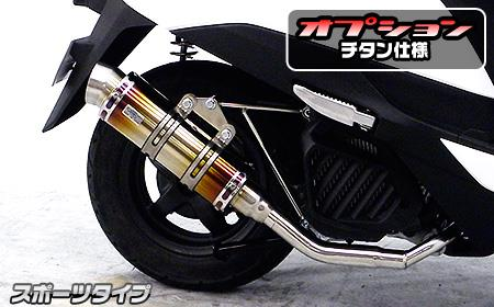リード125(LEAD)EBJ-JF45 ロイヤルマフラー スポーツタイプ チタン ウイルズウィン(WirusWin)