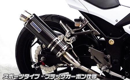 Ninja250(ニンジャ)JBK-EX250L スリップオンマフラー スポーツタイプ ブラックカーボン ウイルズウィン(WirusWin)