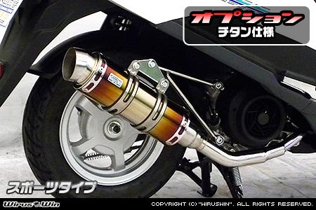 ロイヤルマフラー スポーツタイプ チタン仕様 ウイルズウィン(WirusWin) アドレス125(2BJ-DT11A)