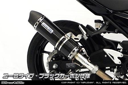 スリップオンマフラー ユーロタイプ ブラックカーボン仕様 ウイルズウィン(WirusWin) Ninja400(ニンジャ400)2BL-EX400G