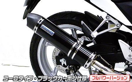 CBR250R(JBK-MC41)11~13年 ダイナミックマフラー ユーロタイプ フルエキ ブラックカーボン(フルパワーバージョン) ウイルズウィン(WirusWin)