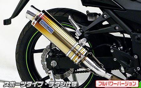 Ninja250R(ニンジャ)JBK-EX250K スリップオンマフラー スポーツタイプ チタン(フルパワーバージョン) ウイルズウィン(WirusWin)