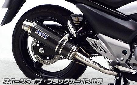 GSR250(JBK-GJ55D) スリップオンマフラー スポーツタイプ ブラックカーボン仕様 ウイルズウィン(WirusWin)