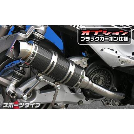 シグナスX(1型)国内SE12J ロイヤルマフラー スポーツタイプ ブラックカーボン仕様 ウイルズウィン(WirusWin)