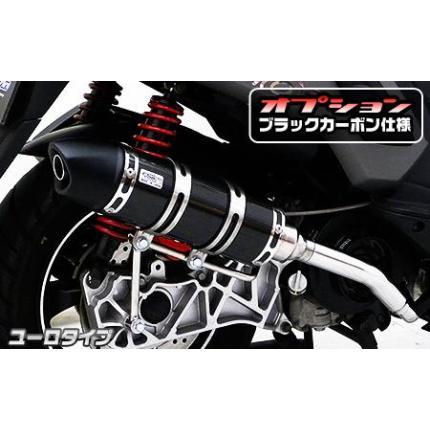 シグナスX(1型)国内SE12J ロイヤルマフラー ユーロタイプ ブラックカーボン仕様 ウイルズウィン(WirusWin)