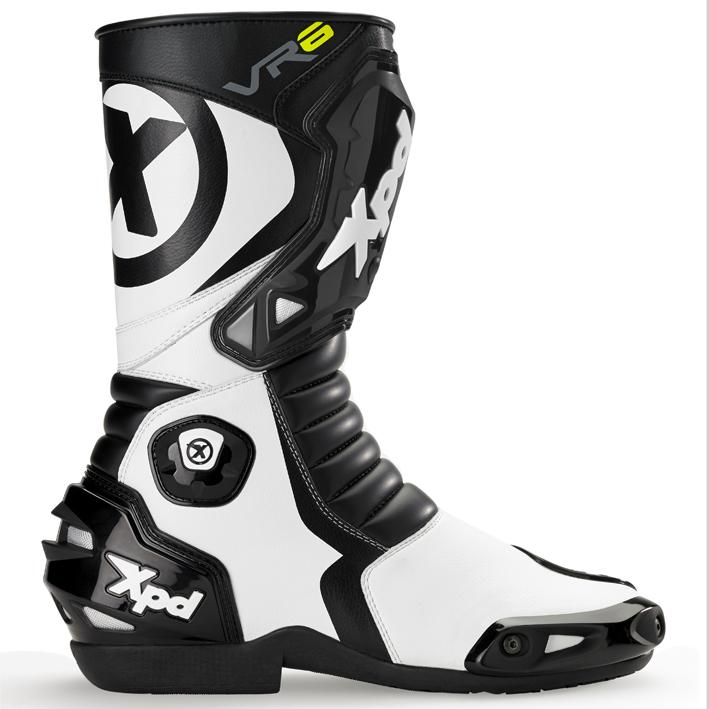 XPN020 VR-6 2 レーシングブーツ ブラック/ホワイト 25.0cm(40) XPD(エックスピーディー)