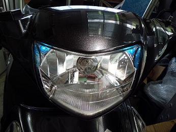 アドレスV125(ADDRESS) ポジション付きヘッドライトユニット 油漢(YUKAN)