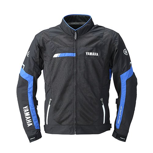 クロスオーバーメッシュジャケット YAS48-R ブラック/ブルー Lサイズ YAMAHA(ヤマハ・ワイズギア)