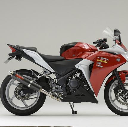 CBR250R(MC41) SUSスリップオンカーボンマフラー JMCA認定 YAMAMOTO(ヤマモトレーシング)
