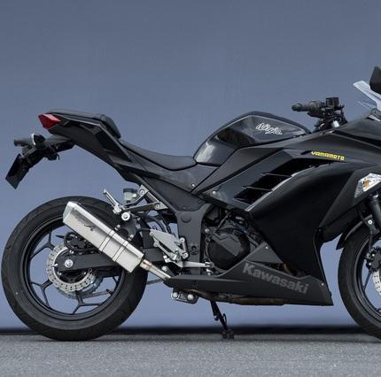 Ninja250(ニンジャ) SUSスリップオンチタンマフラーTYPE-S JMCA認定 YAMAMOTO(ヤマモトレーシング)