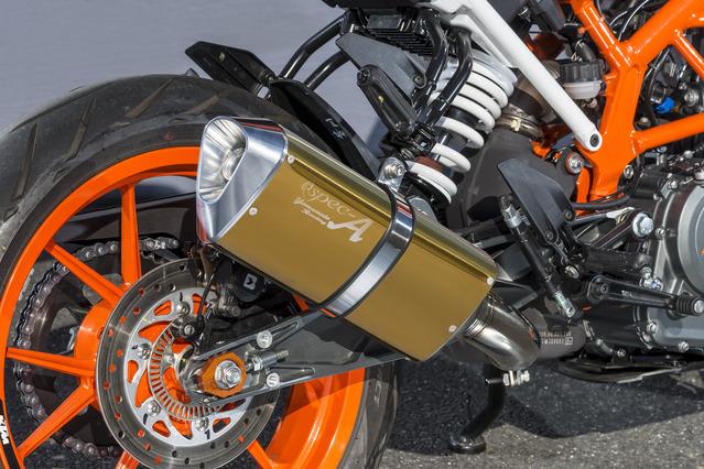 スリップオンマフラー TYPE-SA ゴールド JMCA認証 YAMAMOTO RACING(ヤマモトレーシング) KTM 390DUKE(17年)