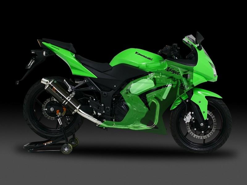 Ninja250R(ニンジャ)08~12年 機械曲Tri-Ovalサイクロン(1エンド) SC (カーボンカバー)フルエキゾーストマフラー YOSHIMURA(ヨシムラ)
