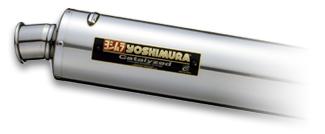SR400(85~02年)・SR500(85~00年) チタン機械曲サイクロンマフラー ステンレスカバー YOSHIMURA(ヨシムラ)