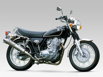 SR400(85~02年)・SR500(85~00年) チタン機械曲サイクロンマフラー チタンカバー YOSHIMURA(ヨシムラ)