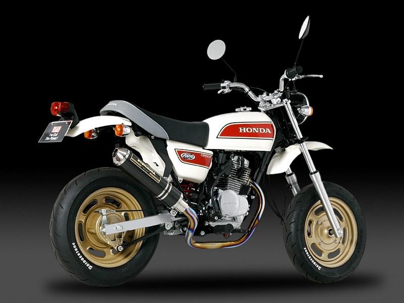 Ape50(エイプ)(08年) 機械曲チタンサイクロン TC (カーボンカバー) フルエキゾースト YOSHIMURA(ヨシムラ)
