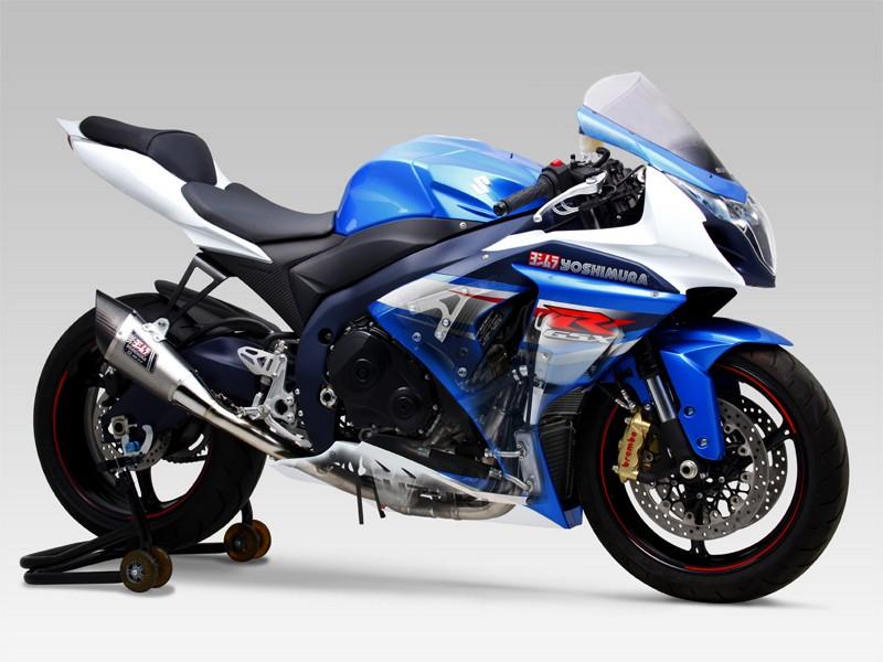 GSX-R1000(12~13年) R-11 レーシングサイクロン 1エンド(ステンレスエキパイ) ST (チタンカバー) フルエキゾーストマフラー YOSHIMURA(ヨシムラ)