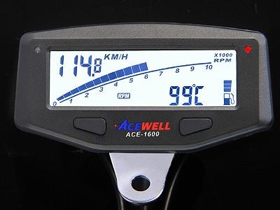 ACEWELL エースウェル ACE-1600 多機能 デジタルメーター スピードメーター タコメーター ACEWELL エースウェル ace-1600