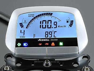 ACEWELL エースウェル ACE-5652B 多機能デジタルメーター ブラックボディ スピードメーター タコメーター ACEWELL エースウェル ace-5652b