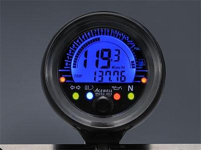 ACEWELL エースウェル MD052-253 多機能 デジタルメーター スピードメーター タコメーター ACEWELL エースウェル md052-253