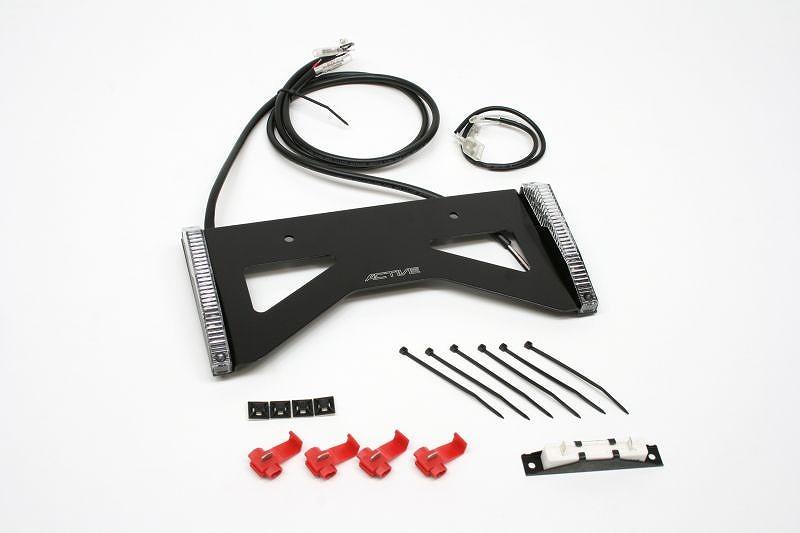ACTIVE アクティブ 1150026 LEDウインカー スモークレンズ+NEXRAY カーボンナンバープレートベース