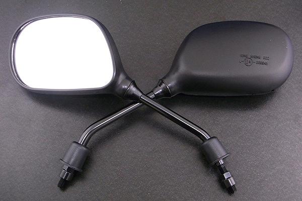 バックミラー 正規認証品 新規格 2本セット 楕円 左右セット 高品質 アルバ 101-009 ズーマー 限定価格セール ホンダ
