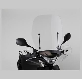 旭風防 旭精器 AD-19 ナックル付き大型ウインドシールド スズキ アドレス V125S 4560122612568