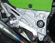 BEET 0111-K10-20 ハイパーバンク バックステップ シルバー 固定式 GPZ900R NINJA GPZ900Rニンジャ