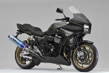 ZRX1200 ダエグ マフラー BEET 0254-K99-AB NEW NASSERT-R スリップオン マフラー WITH A-TECH ヒートガード ブルーチタン ZRX1200DAEG ZRX1200ダエグ