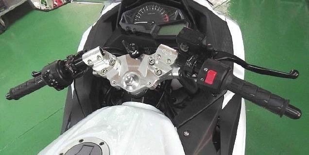 BEET 0605-K95-00 レーシングハンドルキット シルバー NINJA250 ニンジャ250/NINJA250R ニンジャ250R