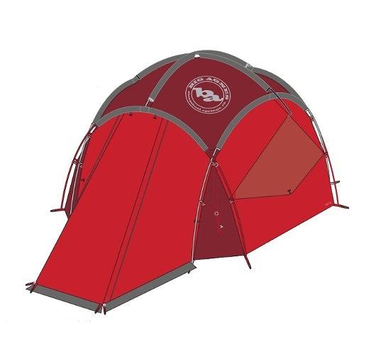 ビッグアグネス BIG AGNES TGS4ABPKG20 ガードステーション 4 レッド 4人用 キャンプテント シェルター シングルウォール レジャー アウトドア