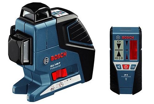 BOSCH ボッシュ GLL3-80PLR レーザー墨出し器 受光器セット