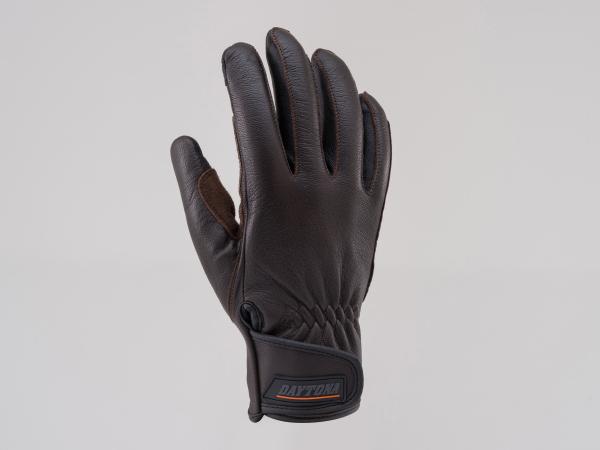 支持DAYTONA 95296 HBG009山羊皮肤手套手套标准触摸屏的棕色S尺寸