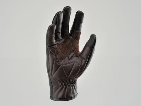 支持DAYTONA 95298 HBG009山羊皮肤手套手套标准触摸屏的黑色/棕色M尺寸