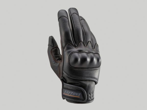 支持DAYTONA 95304 HBG010山羊皮肤手套手套保护触摸屏的黑色/棕色M尺寸