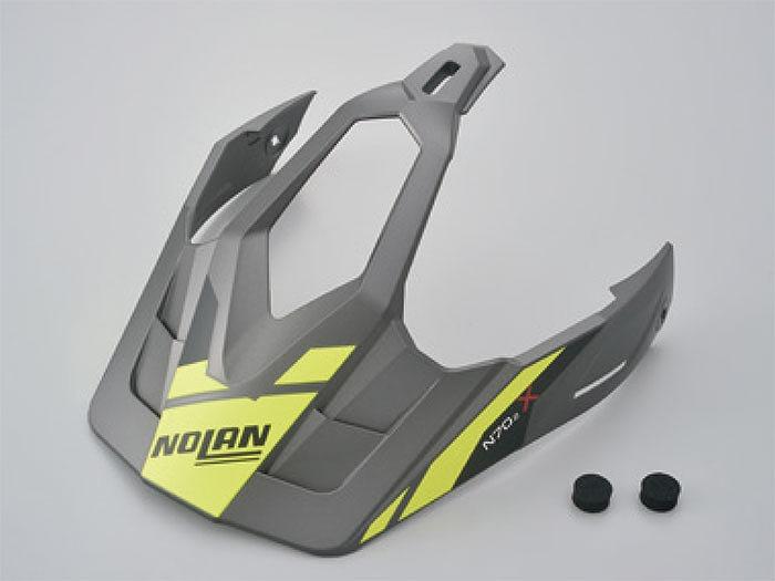 お求めやすく価格改定 デイトナ 99758 NOLAN ノーラン バイザー PEEK N702X 定番キャンバス ヘルメット補修パーツ 23 フラットグレー L-XLサイズ ヘルメット